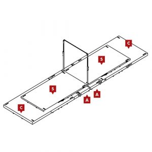 FIG Competition Horizontal Bar Mat Configuration
